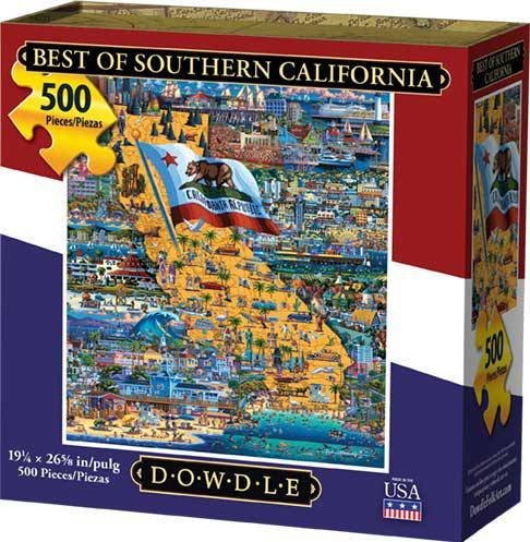 Dowdle Jigsaw Puzzle - Best of Southern California - 500 Piece