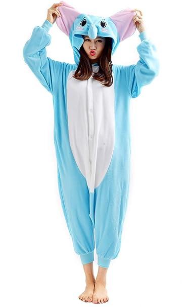Unisex Animal Pijama Ropa de Dormir Cosplay Kigurumi Onesie Elefante Disfraz para Adulto Entre 1, 40 y 1, 87 m: Amazon.es: Ropa y accesorios