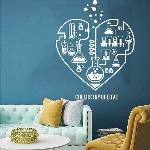 JXNY Gran Química Ciencia Corazón Abstracto Calcomanía de Pared ...