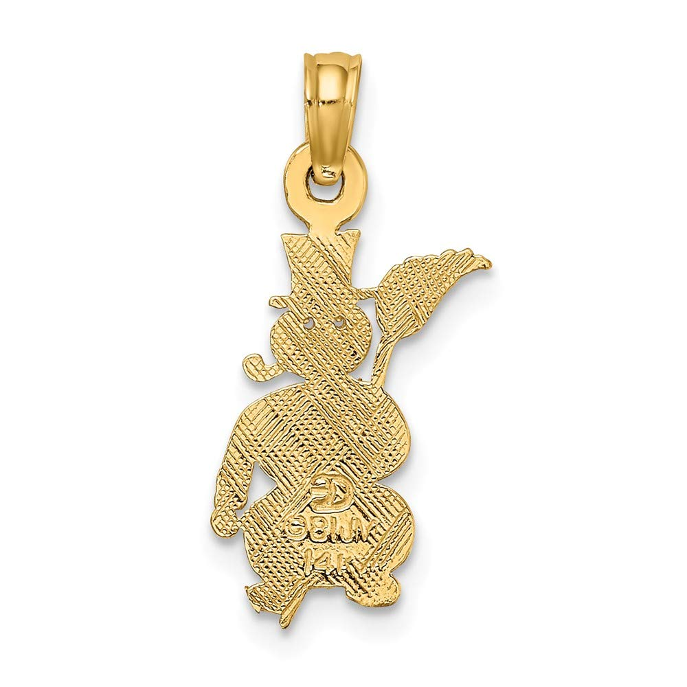 Jewels By Lux 14K Yellow Gold Polished Snowman Pendant
