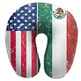 Wodehous Adonis Retro Mexican American Flag Mexico Comfort Memory Foam Neck Pillows Neck-Supportive Travel Pillow