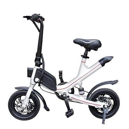 TIANQING Mini Bicicleta eléctrica Plegable, Scooter ...