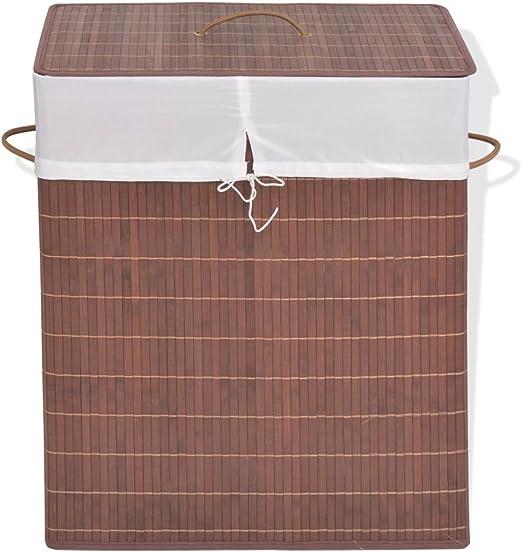 ROMELAREU Cesto de la Ropa de bambú Rectangular marrónCasa y jardín Productos del hogar Productos para Lavado de Ropa Cestas para Ropa: Amazon.es: Hogar