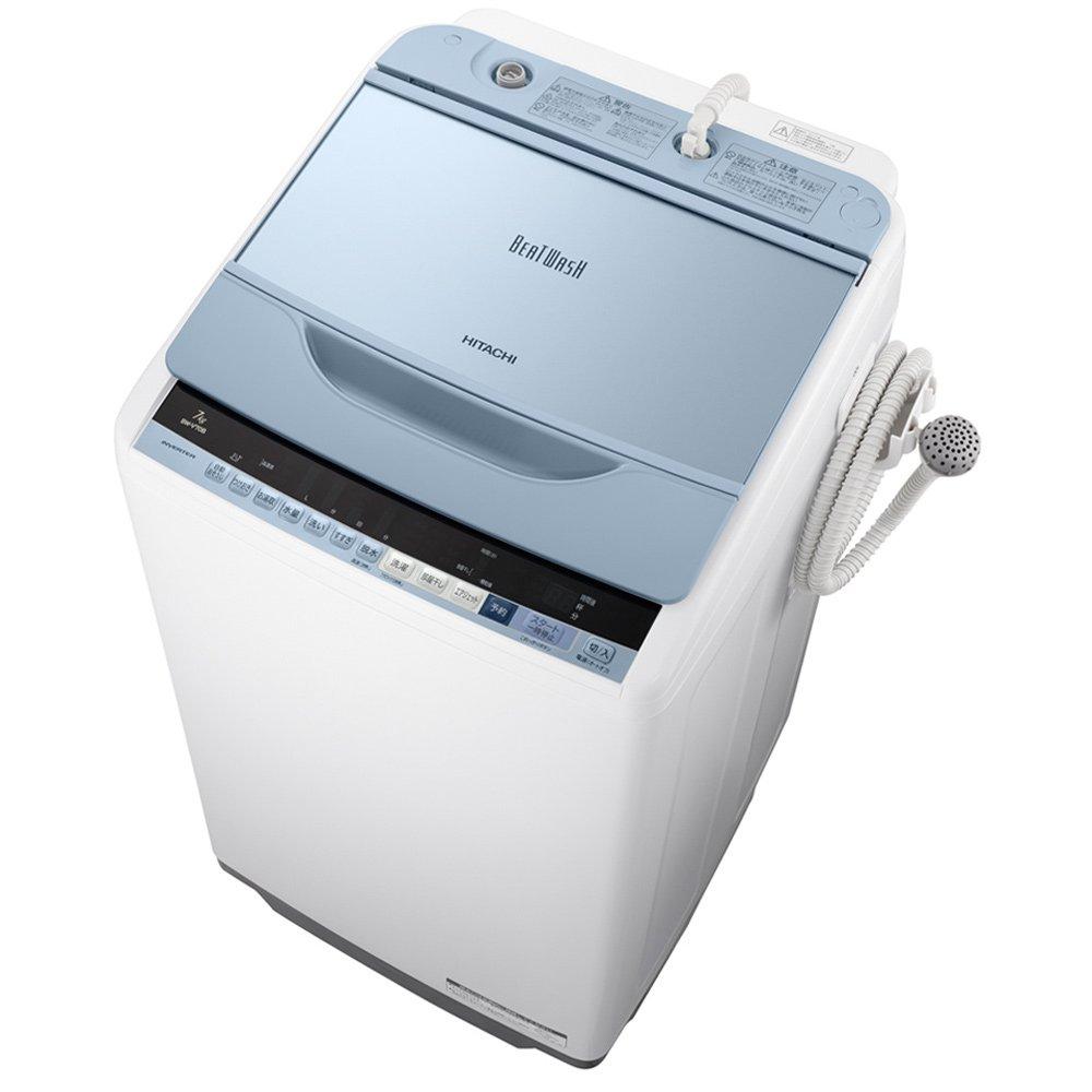 日立 全自動洗濯機 ビートウォッシュ 7kg ブルー BW-V70B A 洗濯脱水容量:7kg ブルー B07262Q47C