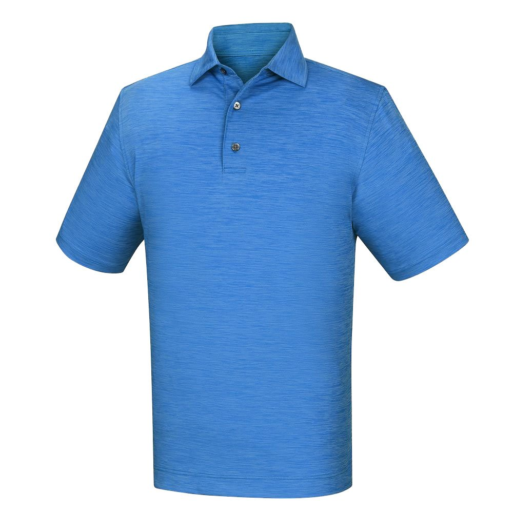 メンズFootjoy Lisle Space Dyed Self Collarシャツ B011G70VAY Medium|ブリリアントブルー ブリリアントブルー Medium