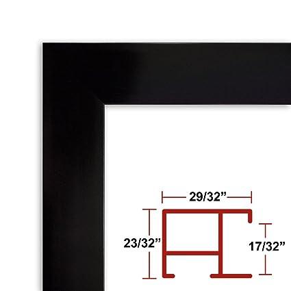 Amazon.com - 23 x 39 Shiny Black Poster Frame - Profile: #97 Custom ...