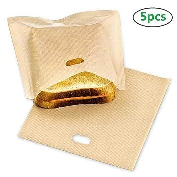 Meres Paquete de 5 bolsas para tostar en sándwich Reusable ...