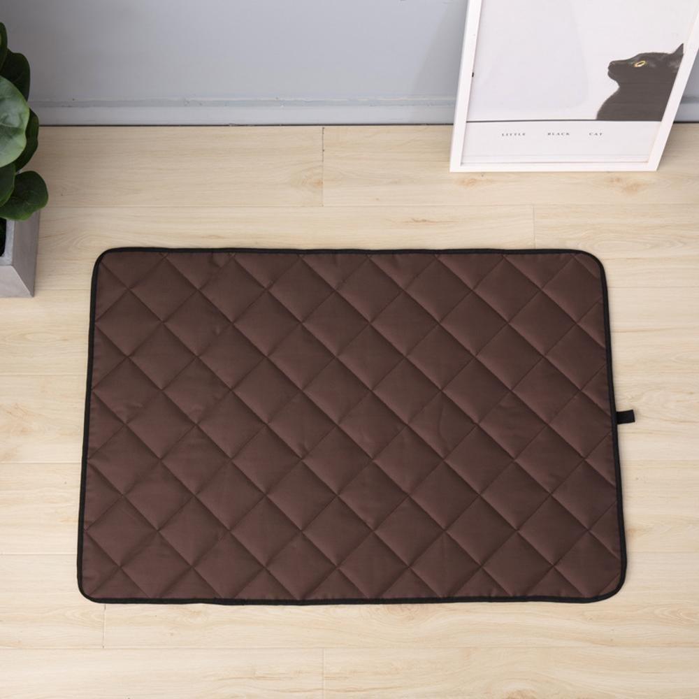 B 5075cm B 5075cm YunYilian Pet Bolster Dog Bed Comfort Dog Cushion Pet Mat Anti-Skid car pet mat Waterproof bite Oxford Cloth Kennel (color   B, Size   50  75cm)
