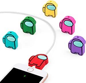 Cute Cable Protector for iPhone iPad Charger Cable, iLovey 6PCS Cartoon Charging Cable Buddies Cable Cord Saver