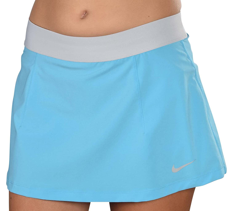 Falda de tenis Nike Dri-Fit Slam Woven - Azul-Mediano: Amazon.es ...