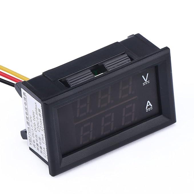 Droking Medidor de voltaje de 24 V CC con indicador de amperímetro ...