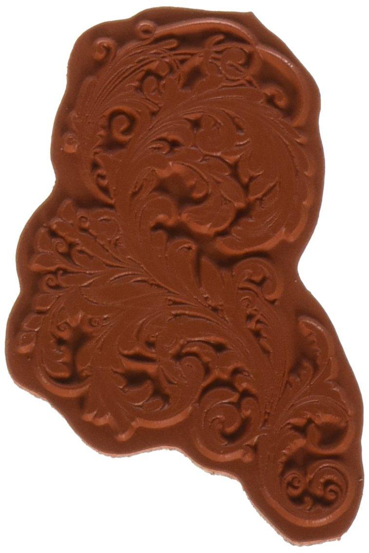 IndigoBlu VFD Cling Mounted Stamp 3 by 3-Inch Vintage Flourish Dinkie