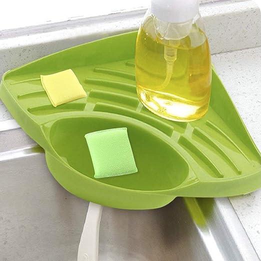Esponja soporte, fregadero Caddy cocina cepillo jabón lavavajillas ...