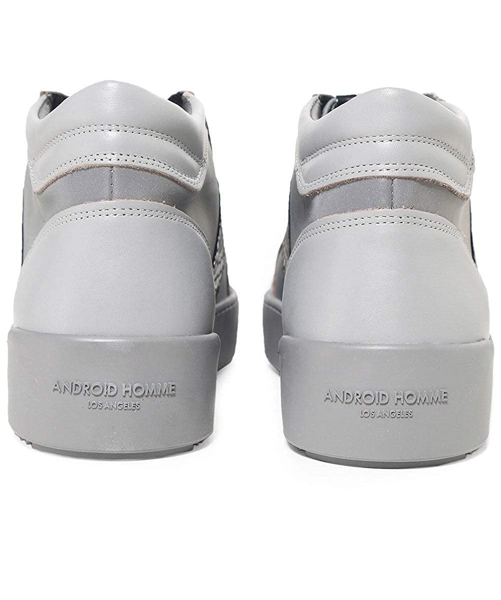 74f4dfe0bb8a Android Homme Men s Propulsion Mid Top Mirror Python Trainers Grey UK 7   Amazon.co.uk  Shoes   Bags
