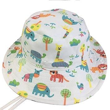 ea01d13301768 Cloudkids ベビー帽子 ハット つば広 赤ちゃん キッズ キャップ 子供サンバイザー アニマル柄 男の子 女の子