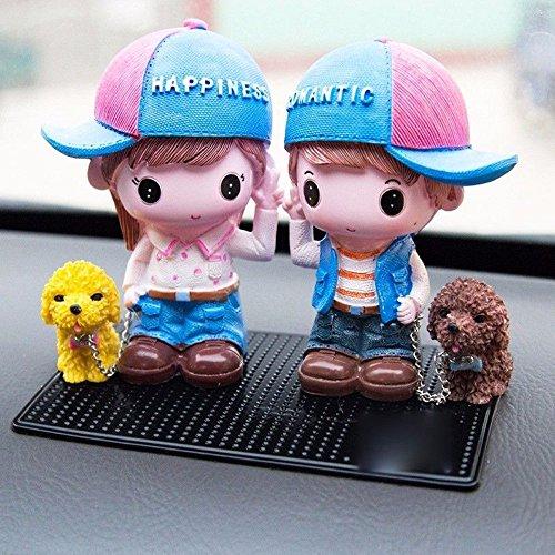 uzoho Lucky Cute Couples Car Interior Decorations Car Seat Ornament Car Decor Home Decor Creative Gifts (A)
