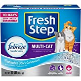 Fresh Step 30393-P Multi-Cat with Febreze Freshness - Clumping Cat Litter - Scented - 20 Pounds
