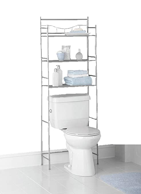 Magnificent Mainstays 3 Shelf Bathroom Space Saver Fits Most Standard Toilets 3 Shelf Satin Nickel Home Interior And Landscaping Staixmapetitesourisinfo