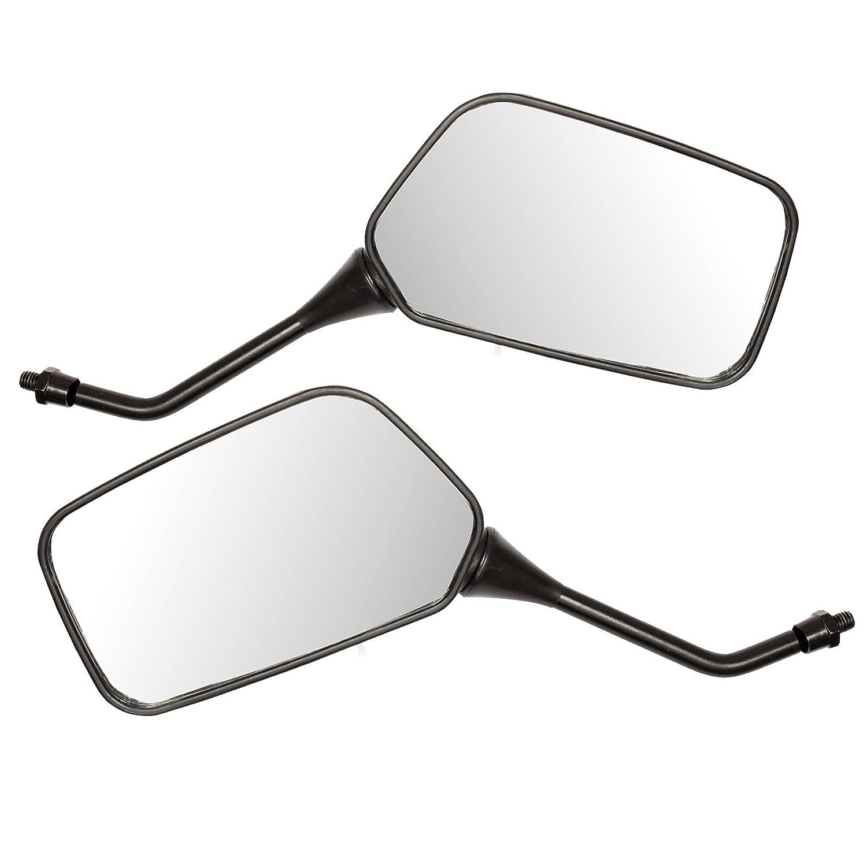 8 mm Schwarz Ryde Universal-Spiegel f/ür Motorrad//Roller