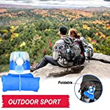 Silicone water Bottle Foldable Collapsible Anti Leakage With leak proof valve bottles Travel Outdoor sports lightwight Portable BPA free Medical food grade 26 Ounce