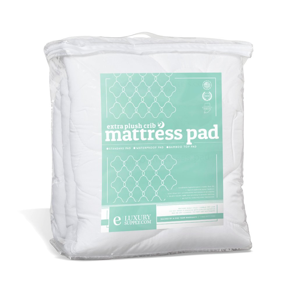 ExceptionalSheets Toddler/Crib Size Mattress Pad - Perfect for Small Child/Infant - Rayon From Bamboo Pad eLuxurySupply