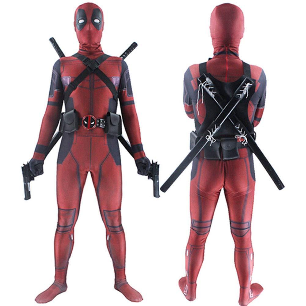 Muswanna87 Disfraz de Deadpool para Adultos y niños, Licra y ...