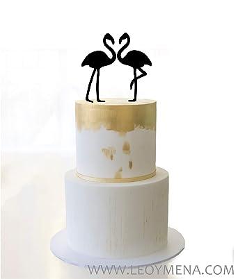 Adorno para pastel o tarta flamingos, flamingos cake topper ...