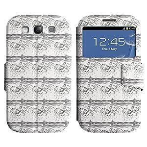 LEOCASE nube blanca Funda Carcasa Cuero Tapa Case Para Samsung Galaxy S3 I9300 No.1004124