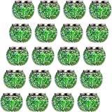 20 Pack Mosaic Solar Light - Decorative LED Outdoor Garden Table Ball Light by GreenLighting (Green)
