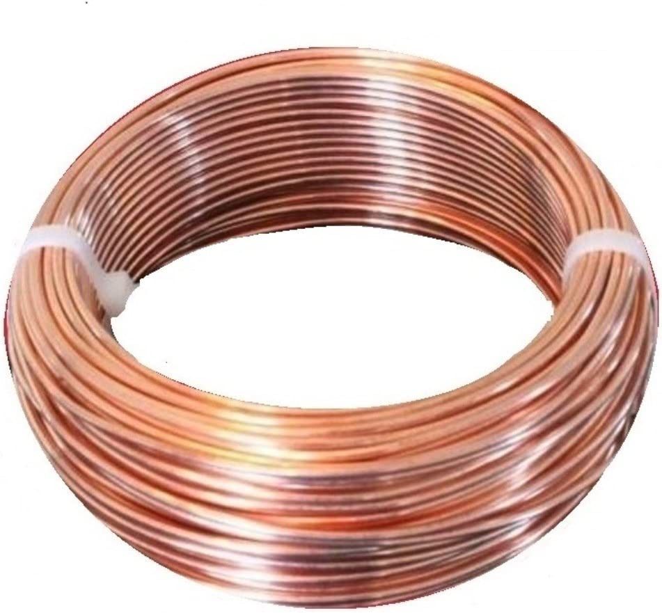 5 FT Coil 14 AWG BARE SOLID COPPER WIRE HALF HARD