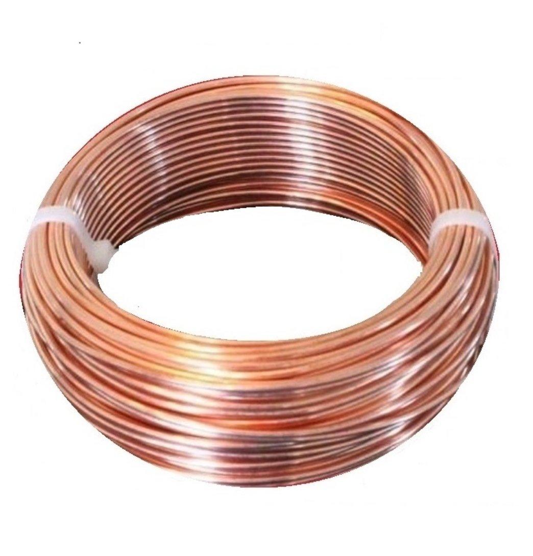 10 AWG Bare Copper Wire 100 Ft Coil Half Hard Single Solid Copper Wire 99.9% Pure