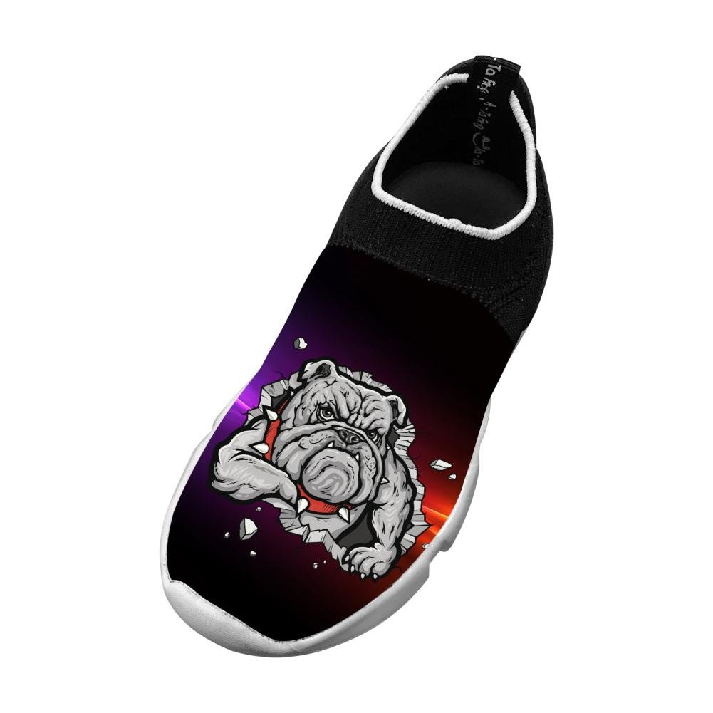 MREIO Domineering Dog Childrens Breathable Fly Knit Shoes Leisure Loafers Sneakers Gym Shoes For Boys