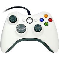 OSTENT Gamepad controlador com fio para console Microsoft Xbox 360, PC, computador, videogame, cor branca
