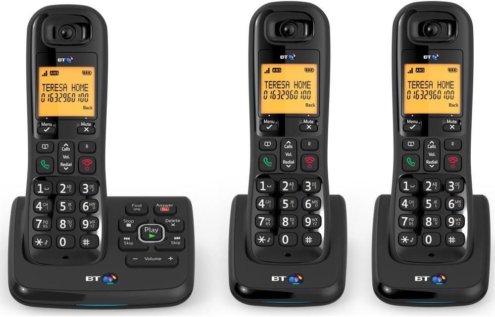 BT XD56 Trio – Teléfonos inalámbricos con contestador automático y Nuisance Call Blocker: Amazon.es: Electrónica
