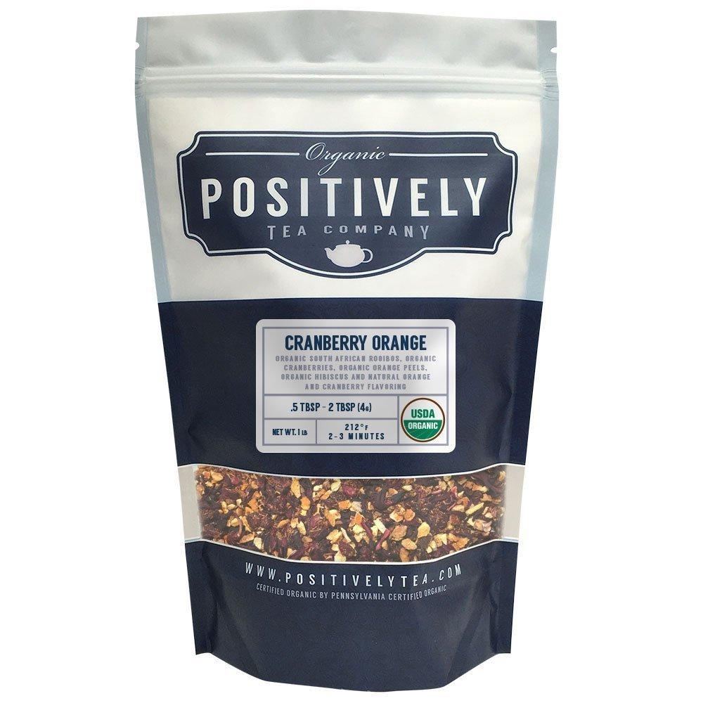 Positively Tea Company, Organic Cranberry Orange Rooibos, Rooibos Tea, Loose Leaf, USDA Organic, 1 Pound Bag by Organic Positively Tea Company