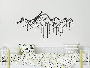 Geometric Mountain Wall Decals. Mountains Nursery Wall Stickers. Arrow Vinyl Stickers. Mountains Wall Art. Boys Bedroom Decor C713