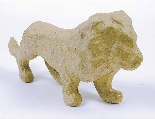 Amazon Com Paper Mache Figurine 4 5 Lion