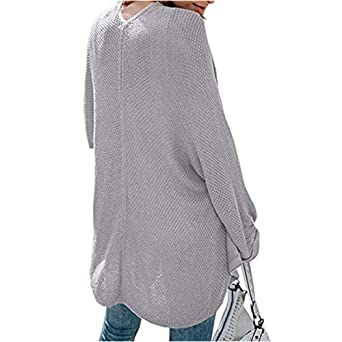 Overdose Blusa De Punto De Manga Larga De Punto Flojo De Moda 2018 De Mujer Abrigo Negro Ocasional Invierno Abrigo: Amazon.es: Ropa y accesorios