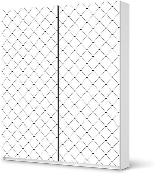 Diseño de rayas de tigre IKEA brilliant armario 236 cm Altura - puerta corredera autoadhesivas diseño coronas - blanco (modelo) adhesivo decorativo your armario dormitorio: Amazon.es: Hogar