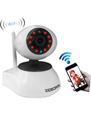 ZEBORA® Baby Monitor, Through Free Mobil App Super HD 960P Internet WiFi Wireless Network IP Security Surveillance Video Camera, Pet, Nanny Monitor MicroSD Recordable with Pan and Tilt, Two Way Audio & Night Vision