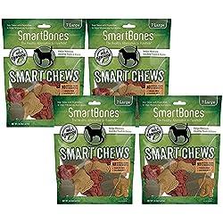 SmartBones Smart Chews Safari Chews for Dogs, Rawhide-Free, Large, 28 Pieces