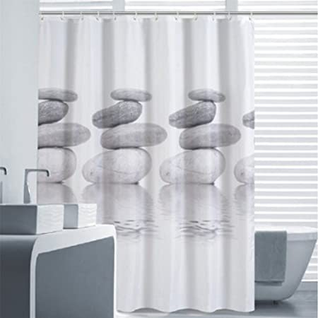 3d - Cortina de ducha (antimoho para ducha cortina para cuarto de ...
