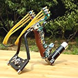 Crossbow for Women - Adjustable Stainless Hunting Laser Slingshot High Velocity Catapult Slingshots Most Powerful Profesional Outdoor Slingshots with Quality Rubber Bands