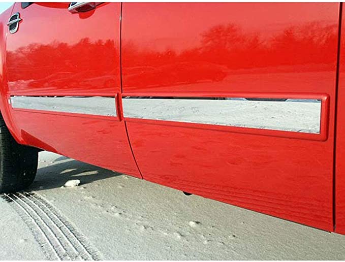 Brighter Design 2p Chrome 1 13//16 Side Molding Insert fit for 09-13 Chevy Silverado