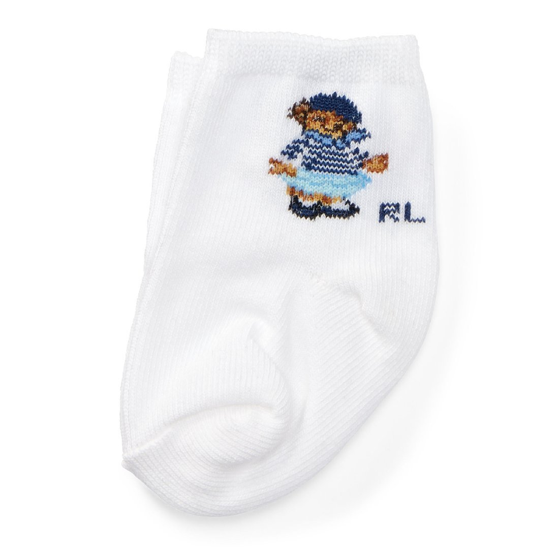 Ralph Lauren Polo Bear Cotton-Blend Socks Baby Girl/'s 0-6 Months