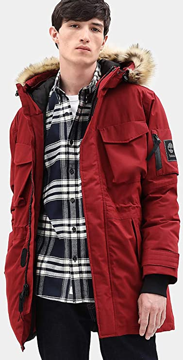 collar Inmoralidad acceso  Timberland Men's Nordic Edge Expedition Waterproof Parka (Maroon, Medium):  Amazon.in: Clothing & Accessories