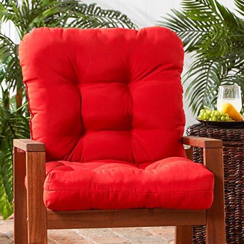 Greendale Home Fashions AZ5815-SALSA Fire 42 x 21 Outdoor Seat Back Chair Cushion