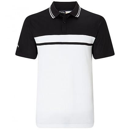 91126cbc7 Callaway Golf 2018 Mens Opti-Dri Essential Colour Blocked Pique Golf Polo  Shirt Caviar Small. Roll over image to zoom in