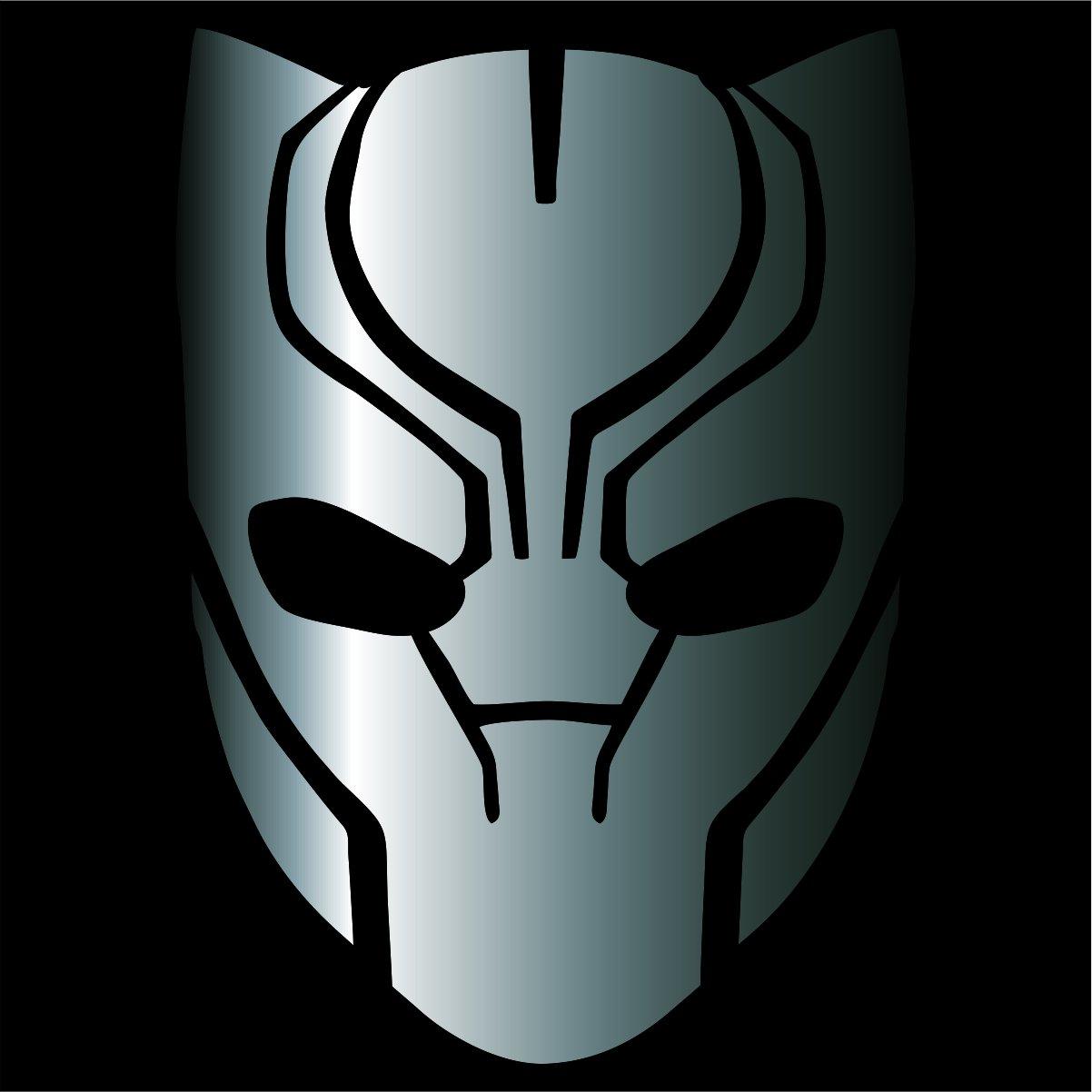 Amazon com black panther decal sticker silver 4 avengers marvel automotive