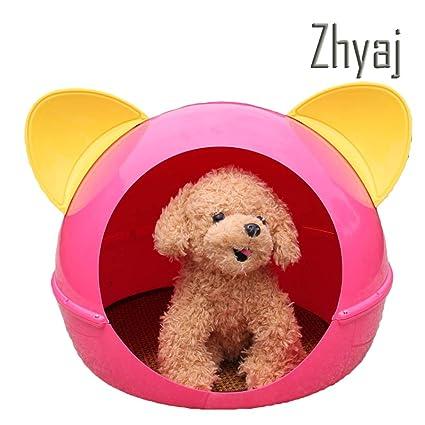 Zhyaj Caseta Perros Exterior Forma De Oreja De Gato Mascota Perro Villa Dormido Cama De Perro